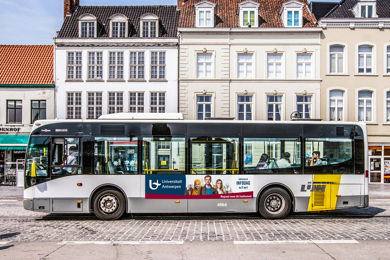UNIVERSITEIT ANTWERPEN Campagne 2018 busflank 3m